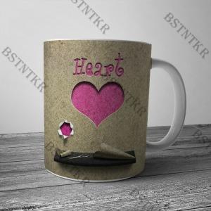 Heart mintás bögre Valentin napra Valentin nap