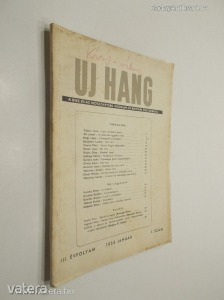 Uj Hang III. évfolyam 1. szám 1954. január (*89)