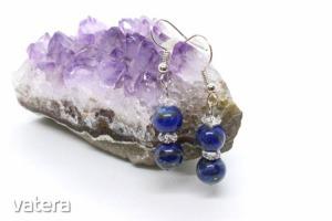 Lapis lazuli akasztós füli