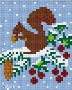 Pixelkép készítő mókusos