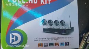 Komplett WIFI IP megfigyelő kamera rendszer + 4 éjjellátó kamera
