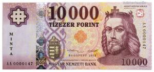 10000 Forint Bankjegy 2015 MINTA