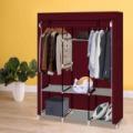 Mobil ruhásszekrény 130x45x170 cm-es méretben, bordó