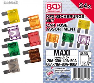 BGS-8127 Biztosíték készlet maxi 24 részes
