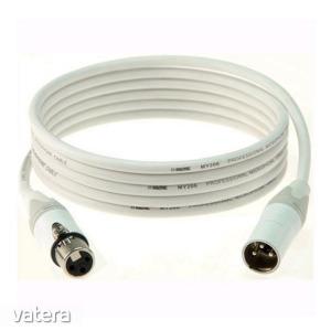 Klotz - IceRock mikrofonkábel, 5 m fehér színű Neutrik XLR3M - XLR3F csatlakozók, + fehér MY206 k...