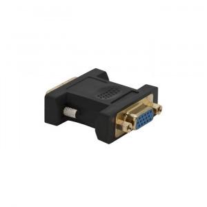 VGA / DVI átalakító VGA aljzat ? DVI dugó aranyozott (05738)