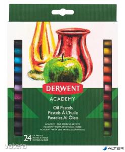 Olajpasztell kréta, DERWENT 'Academy', 24 különböző szín