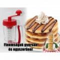 Tésztakeverő és adagoló gép, sütemény, gofri és palacsintatésztához is