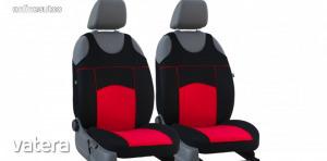 Univerzális trikó üléshuzat pár Tuning 100% velúr piros fekete színben