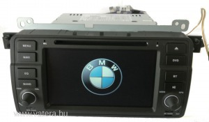 BMW E46 MULTIMÉDIA, BLUETOOTH, GPS, WIFI, TOLATÓKAMERÁVAL!