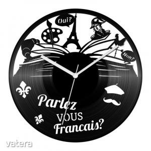 Francia nyelvtanár bakelit óra