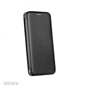 Forcell Elegance Nokia 2.2 (2019) oldalra nyíló mágneses könyv tok szilikon belsővel fekete