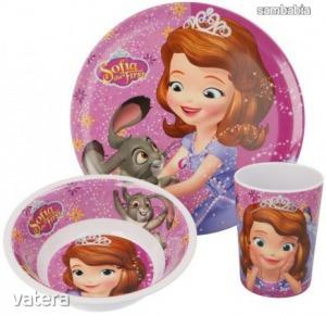 Disney Szófia étkészlet, melamin szett