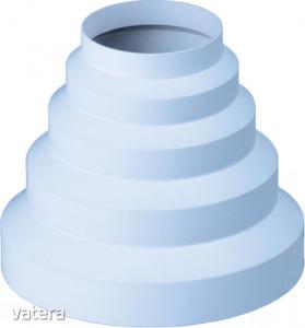 Műanyag cső átalakító, D 80, 100, 120, 125, 150 mm
