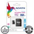 32GB ADATA Premier microSDHC+SD ADAPTER CLASS 10 UHS-I 1