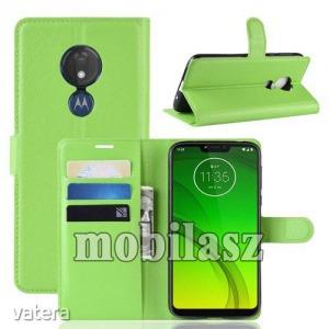 MOTOROLA Moto G7 Power, WALLET notesz mobiltok, Zöld