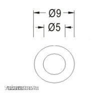 Távtartó Gyűrű Műanyag opál D:9mm, hossz:40mm