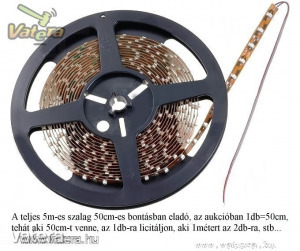 LED Szalag - Fehér - Optoflash 120° 12V SMD - 0.5m