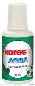"""Hibajavító folyadék, vízbázisú, 20 ml, KORES """"Aqua"""""""