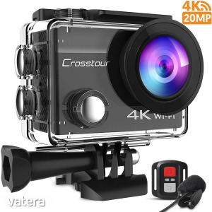 Crosstour CT8500 akciókamera, 4K 20MP WiFi