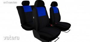 Univerzális Üléshuzat Tuning Due velúr szövet és kárpit kombináció fekete és kék színben
