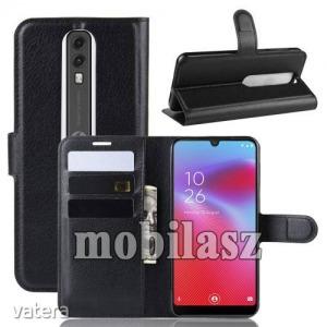 Vodafone Smart V10, WALLET notesz mobiltok, Fekete