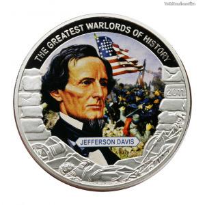 Nagy Hadvezérek sorozat Libéria 1 Dollár 2011 PP Jefferson Davis