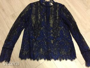 H&M királykék kék csipke csipkés női alkalmi felső blúz 40-es
