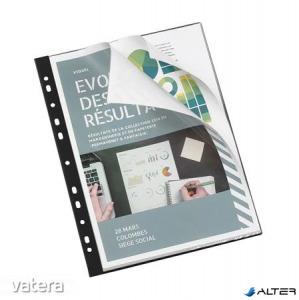 Bemutatómappa, lefűzhető, 20 zsebes, A4, VIQUEL, 'Essentiel', fekete