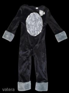 3-4 évesre fekete flitteres plüss cica, macska jelmez - TU
