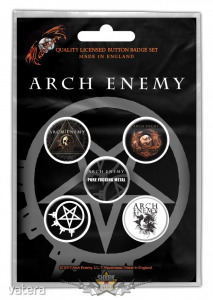 Arch Enemy - ?Will To Power? Button Badge Pack. jelvényszett