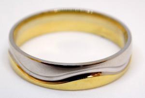 Modern arany gyűrű (ZAL-Au 101233)