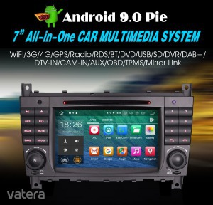 Mercedes C-Class W203 Android 9.0 Quad-Core Bluetooth GPS WiFi USB SD