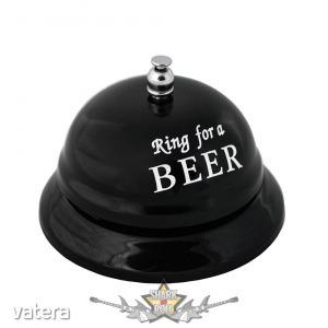 Riadó * Sör idő - Figyelmeztető kis harang az iváshoz. Table beer ring.