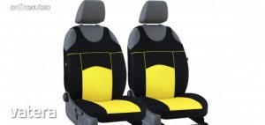 Univerzális trikó üléshuzat pár Tuning 100% velúr sárga fekete színben