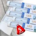 5 db T12 led fénycső 120 cm lapított kivitel 40w 2x duplasoros kivitel