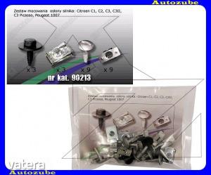 CITROEN  C3  2010.01-2013.02  Alsó  motorvédő  burkolat  rögzítő  készlet  (24db)  {ROMIX}