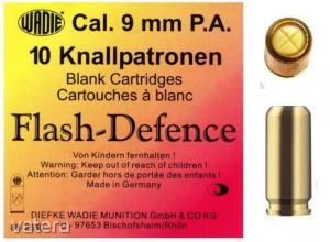 9mm PA Flash Defence riasztó töltény