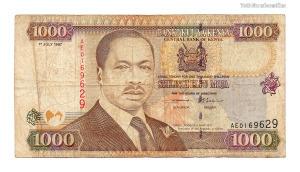 Kenya 1000 Shilling Bankjegy 1997 P40a