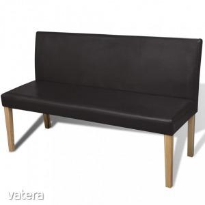 Sötétbarna kanapé szék műbőr tároló láda / pad