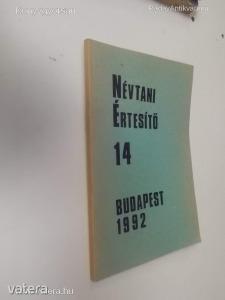 Névtani Értesítő 14 (Budapest 1992) (*98)