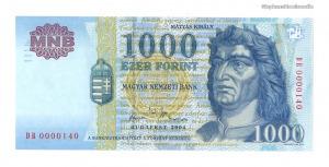 2004 1000 forint DB alacsony sorszám UNC