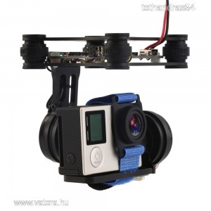 2 Axis Brushless kameratartó gimbal quadrocopter drón vezérlővel 171.5g.