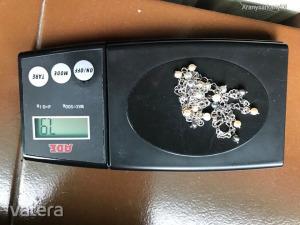 14k 585 fehér arany 3 soros karlánc 3 színű akoya gyöngyökkel orexben vásárolt