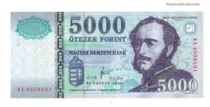 2008 5000 forint BA UNC