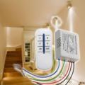 Négycsatornás lámpakapcsoló / rádiófrekvenciás világításvezérlő