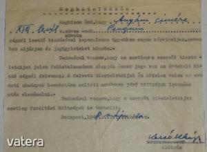 Kassák Lajos által kézzel és géppel írt meghatalmazás, Demeter Tibor részére. 1948. - 40000 Ft - (meghosszabbítva: 2909792453) Kép