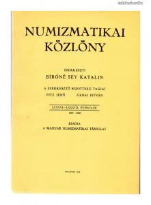 Numizmatikai Közlöny 86-87. évfolyam 1987-1988