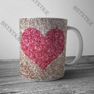 Szívem mintás bögre Valentin napra Valentin nap