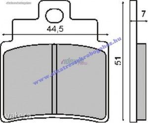 Fékbetét KYMCO GRAND DINK 01-04 250ccm RMS 0500